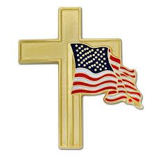 Blue And Yellow Cross Flag Amazon Com Pinmart U0027s Patriotic American Flag And Gold Cross