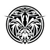 hawk eagle tribal tattoo vector art thinkstock
