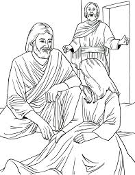 kids coloring page of jairus daughter healed by jesus christ