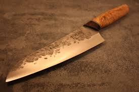 made kitchen knives santoku knife handmade made santoku with an design