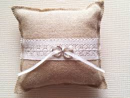 ring pillow rustic country hessian burlap wedding ring bearer burlap ring