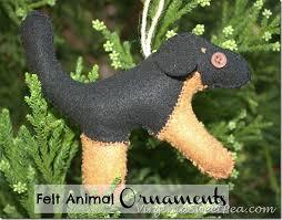 adorable felt animal ornaments sweet pea