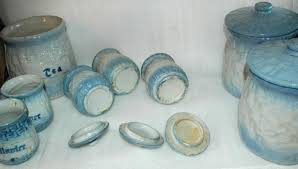 Blue And White Kitchen Canisters Antiques Art Vintage