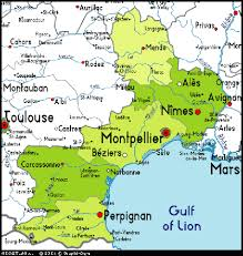 map of perpignan region perpignan map and perpignan satellite image