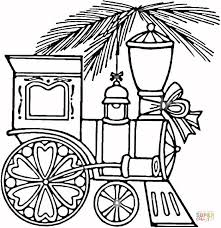 christmas train coloring page free printable coloring pages