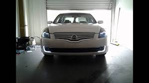2008 nissan altima custom hid projector retro fitted headlights 2007 nissan altima youtube
