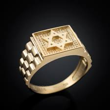men ring design gold of david rolex design mens ring