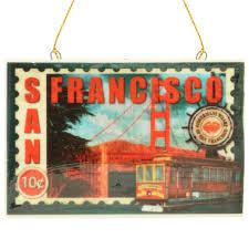 san francisco porcelain postcard st ornament
