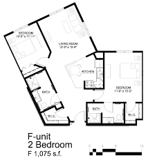 two bed two bath floor plans apartment layout haven homes