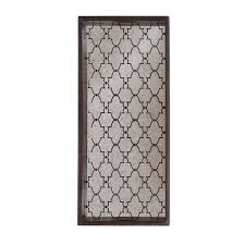buy notre monde bronze gate rectangular mirror tray amara