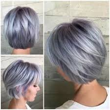 salt and pepper hair with lilac tips behind the chair image viewer new hair pinterest hair