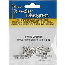 how to convert clip on earrings to pierced earrings earring converter pierced to clip 4 pkg nickel