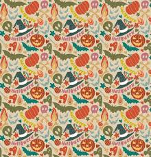 halloween horizontal background halloween pattern with black owls and orange background stock