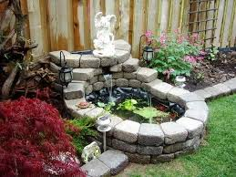Small Garden Ponds Ideas Small Outside Water Features And Ponds For Fish