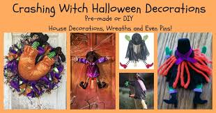 crashing witch halloween decorations pin wreaths and hanging