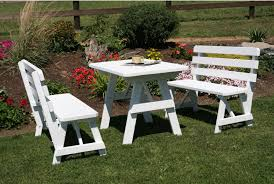 Folding Picnic Table With Benches 31 Alluring Picnic Table Ideas