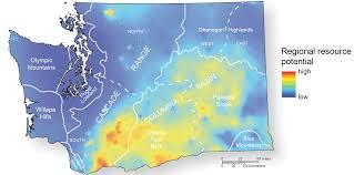 Map Of Spokane Washington Geothermal Resources Wa Dnr