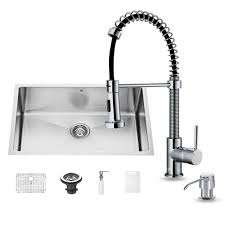 home depot faucets for kitchen sinks vigo all in one undermount stainless steel 30 in single bowl