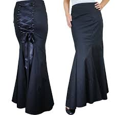 Black Corset Halloween Costume Gothic Corset Lace Skirt