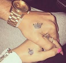 couple crown wrist tattoo on tattoochief com couple tattoos