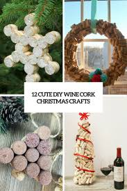 12 cute diy wine cork christmas crafts shelterness