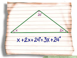The Interior Angles Of A Triangle Always Add Up To 3 Ways To Find The Third Angle Of A Triangle Wikihow