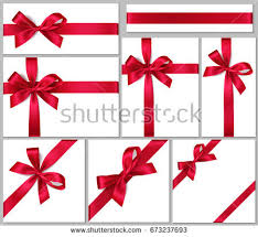 gift box bows realistic white gift box bow stock vector 739685629