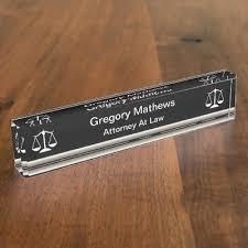 attorney executive desk name plates zazzle com