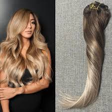 balayage hair extensions shine remy clip in hair extensions human hair ombre balayage
