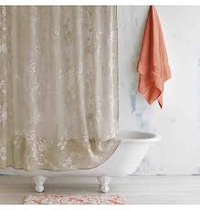 Embroidered Linen Curtains Shower Curtains Linen Alley