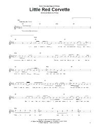 prince corvette lyrics corvette sheet direct