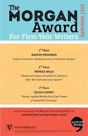 2017 award winners the writing studio vanderbilt