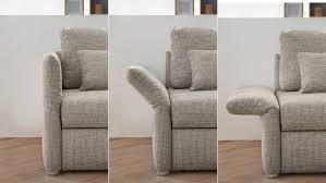 funktions sofa luca sofa in grau mit bettfunktion 140 cm