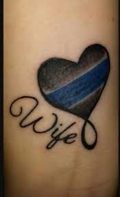 law enforcement wife tattoos photo wife of fallen officer shows