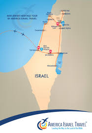 A New Map Of Jewish by New Jewish Heritage America Israel Tours