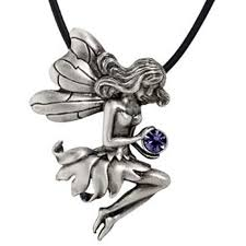 fairy crystal necklace images Pewter purple crystal seated fairy necklace free shipping on jpg