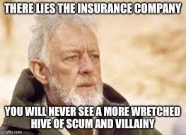 Insurance Meme - obi wan kenobi meme imgflip
