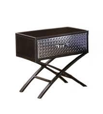 Meaning Of Nightstand Amazon Com Furniture Of America Nervus Nightstand With Metallic
