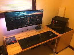 Gaming Desk Setup by My Ultrawide Twss Setup Bestgamesetups Com Pinterest