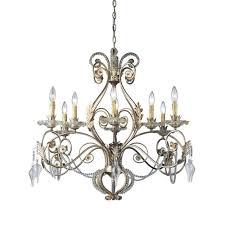 antique chandelier hampton bay allure 8 light antique silver chandelier 14441 028