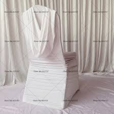 ruffled chair covers 50pcs free shipping white color ruffled banquet spandex chair
