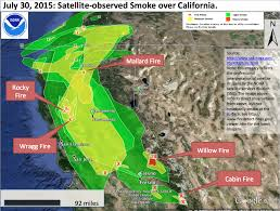 California Wildfire Map 2015 by California Smoke Map California Map