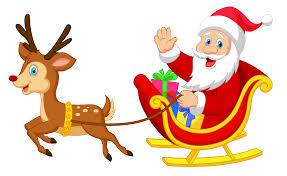 rudolph and santa clipart clipartxtras