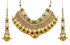 gold bridal set 22 kt gold bridal necklace and earing sets 22kt gold bridal