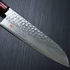 japanese seto iseya hammered damascus vg10 santoku kitchen knife description