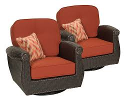 Outdoor Furniture Set Breckenridge Swivel Rocker 2 Piece Patio Furniture Set Brick Red