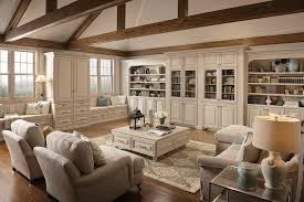 Love Lots Of Kraftmaid Builtins Including  Window Seats With - Family room bookcases