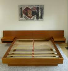 Floating Bed Platform by King Danish Modern Teak Platform Bed Attached Floating
