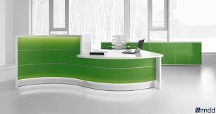 Narrow Reception Desk Furniture White Reception Desk For Modern Office Ideas With Desks