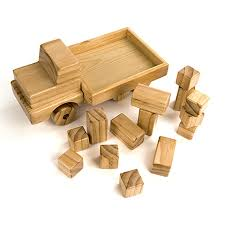 wooden truck toy buy giant wooden truck with building blocks tts
